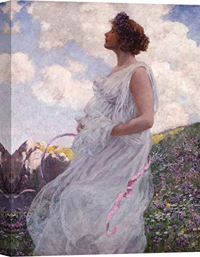 Art Print Cafe – Art Print op Canvas – Figuratief schilderij – George Hitchcock, Calypso 60x40