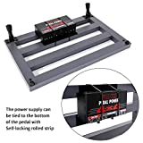 Ghost Fire Guitar Pedal Board Aluminum Alloy 1.76IB Super light Effect Pedalboard 19.8''x11.5'' with Carry Bag,Guitar Pedal Cable,SPL-04W