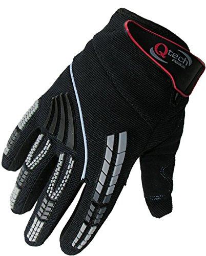 Preisvergleich Produktbild Qtech - Kinder Motocross-Handschuhe - Schwarz - XXXS (ca. 3-5 Jahre
