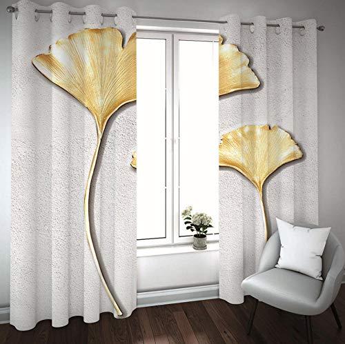 cortinas habitacion matrimonio doradas