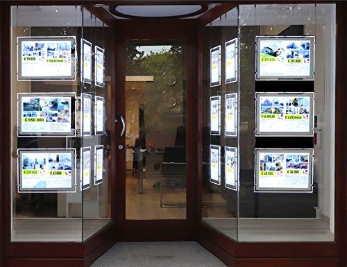 Modern Vision Carta Retroilluminante-Pannelli Luminosi-Stampanti Laser (Backlit Paper-100gr.) A4 100pz - Ideale per Agenzie Immobiliari e Agenzie Viaggi -Compatibile con Pannelli Vitrinemedia.