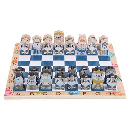Jimdary Schach, klar ohne verblassende Kinder Schachspiel, Brettspiel in reichen Farben, süßes Schachspielzeug, für Anfänger Geschenke Kinder Kinder(XHN-Chess)
