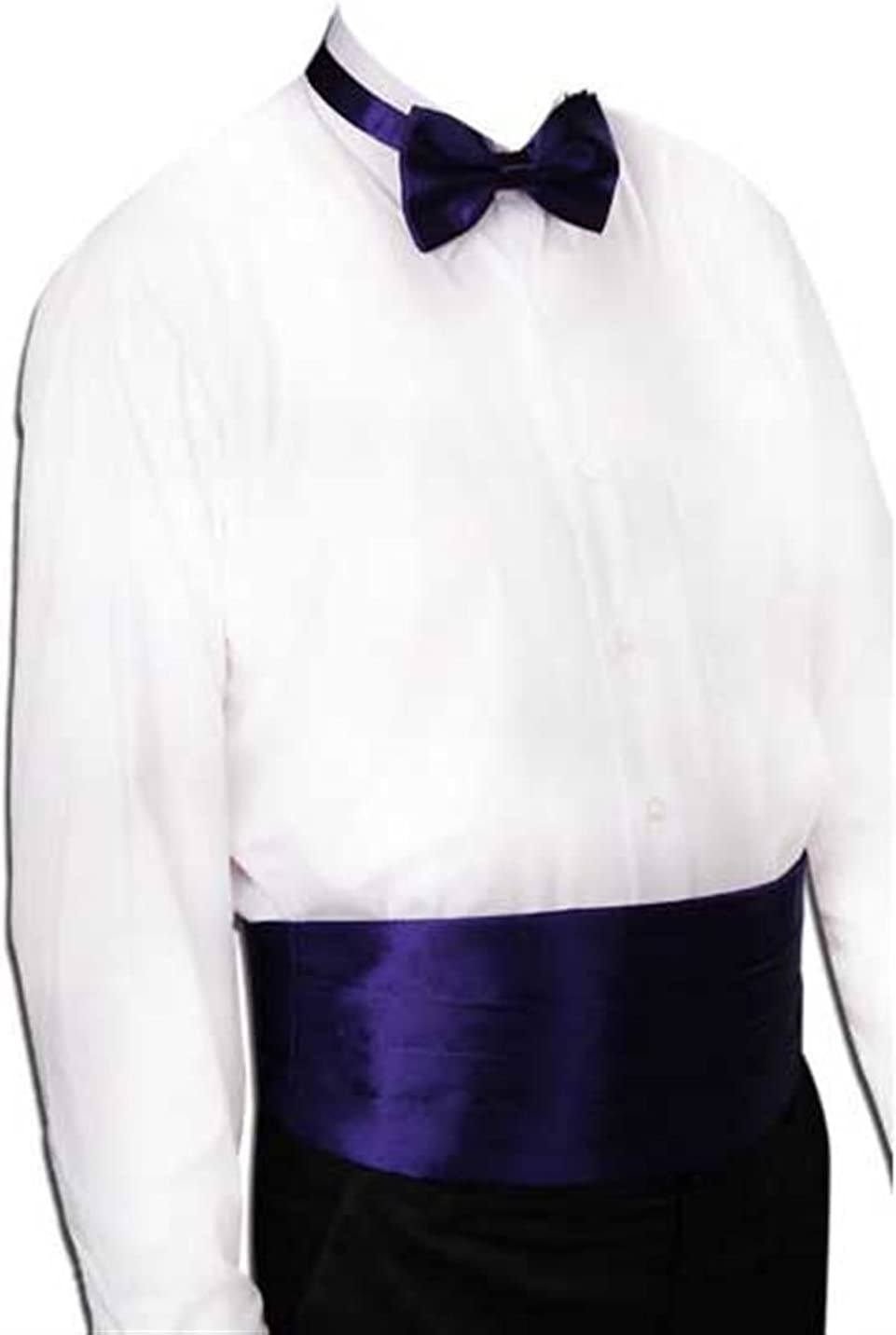 NJBYX Gentleman Solid Wide Silk Satin Elastic Belly Band Tuxedo Cummerbund Commercial Banquet Model Business Elite (Color : A)