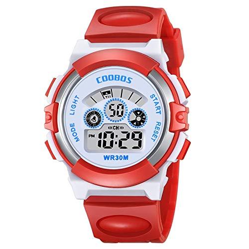 HaIfeng Reloj para Niños Relojes for niños niñas Colorido de Las Luces de Destello Impermeable Reloj Digital LED de bebé de Silicona Reloj de Pulsera for Deporte de los Muchachos del Reloj Mujer