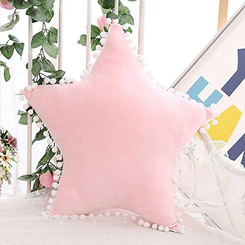 Mystery&Melody - Cojines de luz intermitente para habitación de los niños, diseño de estrella con luz brillante Pink-2
