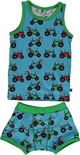 Smafolk Unterwäsche Set mit Allover Print Traktor, Größe: 122-128