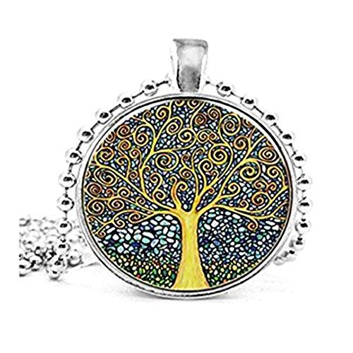 Collar de árbol de la vida, joyería de árbol de la vida, colgante de árbol de la vida, joyería hecha a mano, idea de regalo familiar de amigos