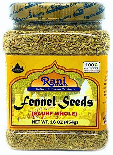 Rani Fennel Seeds (Saunf Sabut) Whole Spice 16oz (454g) All Natural ~ Gluten Friendly   NON-GMO   Vegan   Indian Origin