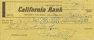 Harold Lloyd - Check Signed 04/26/1958