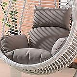 ZHAS Gartenterrasse Rattan Swing Chair Wicker Hanging Egg Chair Hängematte Kissen und Bezug Indoor oder Outdoor-Brown (Farbe: Grau)(Ohne Stuhl)(Ohne Stuhl)