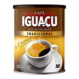Cafe Iguacu Tradicional Instant Brazilian Coffee, Can 200 grams