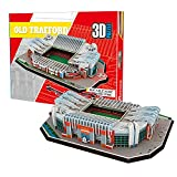 Georgie Porgy 3D Estadio de Fútbol Puzzles DIY Juguetes de Construcción Conjuntos (Estadio Old Trafford 138PCS)