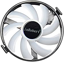 inRobert Hard Swap Fans GPU VGA LED Cooler Cooling Fan FDC10H12S9-C for XFX R7 370 RX 460 470 480 Graphic Card (Blue LED)