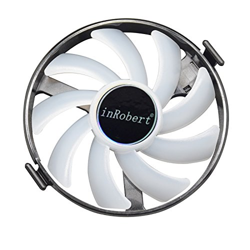 inRobert Hard Swap Fans GPU VGA LED Cooler Cooling Fan FDC10H12S9-C for XFX RX 460 470 480 Graphic Card (Blue LED)