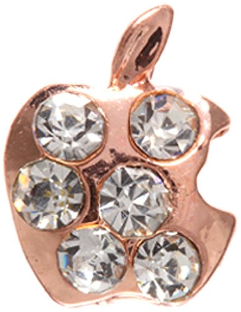 リットル本物の廃棄アップル クリスタル(各2個) ピンクゴールド