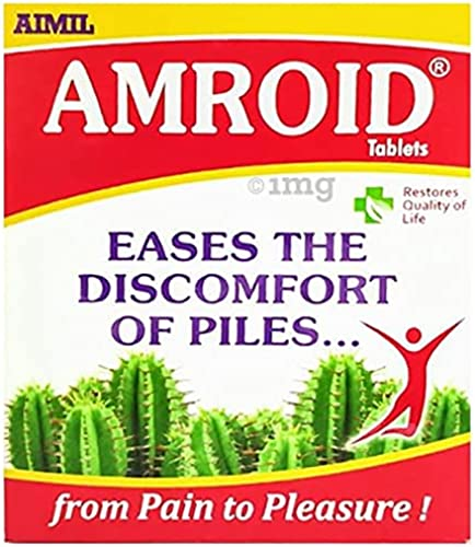 AIMIL Amroid Ayurveda Tablets Poly Herbs Healthcare Medicine for Piles Vegetarian 30 Tablets