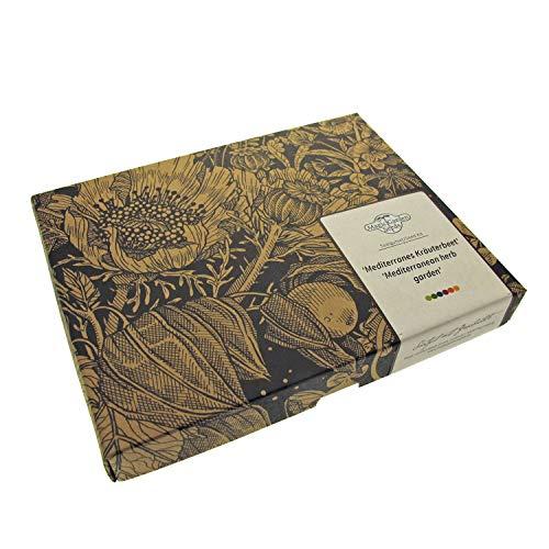 Parterre d´herbes aromatiques méditéranéens -Coffret cadeau de semences avec 5 variétés d'herbes aromatiques classiques des régions méditéranéennes