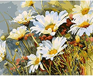 Hartop DIY Paint by Numbers, Oil Painting Kit on Canvas for Kids Beginner,Daisy 16x20 Inch