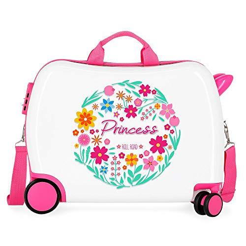 Roll Road Little Me Kinder-Koffer Mehrfarbig 50x38x20 cms Hartschalen ABS Kombinationsschloss 34L 2,1Kgs 4 Räder Handgepäck