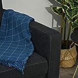 HOMCOM Schlafsofa, Klappsofa, 2-Sitzer Stoffsofa, Bettsofa, Sofa mit Schlaffunktion, Sofagarnitur, Verstellbarer Winkel, Dunkelgrau, 148 x 82 x 89 cm - 8