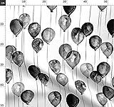 Luftballons, Schwarz Weiß, Geburtstag, Wasserfarben,