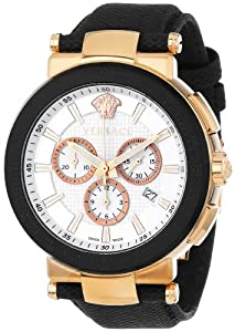 Versace Men's VFG050013 Mystique Sport 46mm Rose Gold Ion-Plated Coated Stainless Steel Chronograph Tachymeter Date Watch image