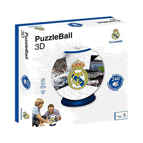 Real Madrid Puzzleball CF (Tamaño Balón) 8,4 (63690), Multicolor, Ninguna (Eleven Force 1)