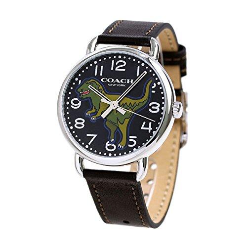 [コーチ]COACH 腕時計 デランシー 40mm 恐竜 革ベルト 14400008 メンズ [並行輸入品]
