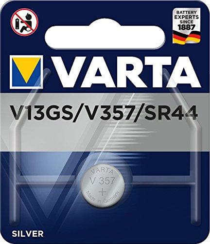 VARTA V13 GS / 357 / SR44 - Pack de 1 pila (óxido de plata, 1.55 V, 155 mAh)