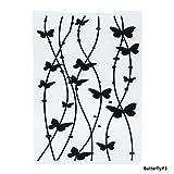 teabelle Neueste Schmetterling Muster Kunststoff Prägeschablonen für Heimwerker Scrapbooking Papier Craft/Karte machen Dekoration Supplies Butterfly#3 -