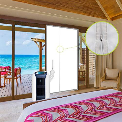 ANK-SNL Türabdeckung Türabdichtung für mobile Klimageräte   Klimaanlage Auslass   Hot Air Stop mit Reißverschluss zum Anbringen an Balkontür   Alternative zur Fensterabdichtung (90x210cm)