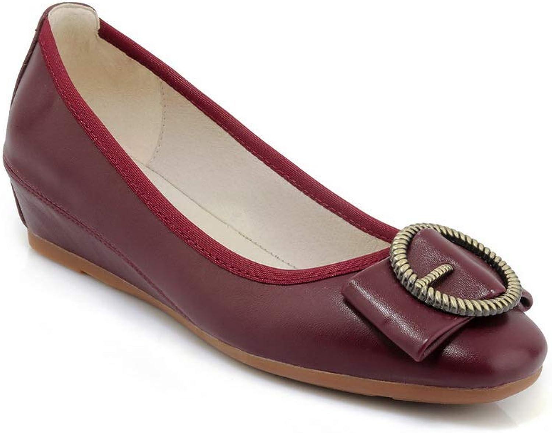 AN Womens Metal Buckles Urethane Pumps shoes DGU00748
