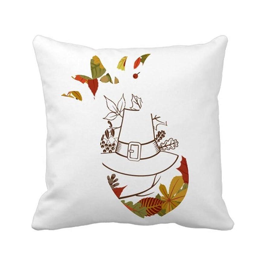 チェス丈夫強化ガーランドの感謝祭の日の葉のパターン パイナップル枕カバー正方形を投げる 50cm x 50cm