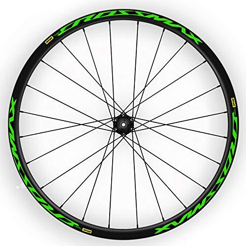 "Pegatinas Llantas Bici 29 "" Mavic Crossmax Elite WH02 Verde Fluor"
