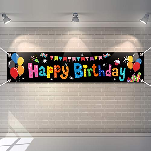 Colorful Happy Birthday Banner Large Happy Birthday Yard Sign Backdrop It's My Birthday Backdrop Party Indoor Outdoor Car Decorations