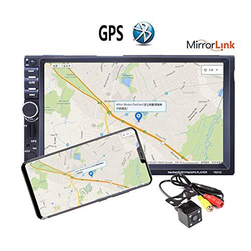 7021G Autoradio 4LED Car Audio 2 DIN GPS Navigation 7 '' LCD Touch Screen MP5 Auto Radio Stereo Bluetooth FM Lettore multimediale per Auto