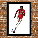 Manchester United - Marcus Rashford - Man UTD - Gerahmter