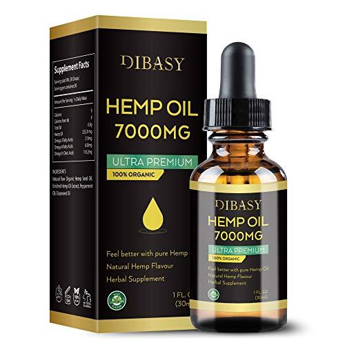 hb oils center hemp oils Organic Hemp Oil 7000MG - Plant Extracted Organic Essential Oil 30ml Natural Hemp Seed Oil for Pain Relief, Stress, Anxiety, Sleep (1 FL.OZ.)