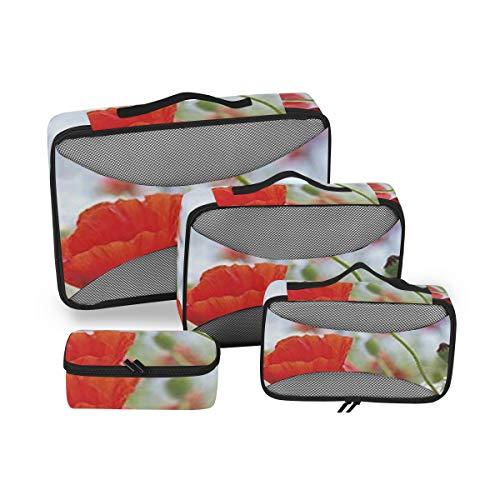 Country Decor 4pcs Toiletry Bag Portable Travel Organizer Makeup Cosmetic for Women Men