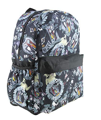 Disney Nightmare Before Christmas Sally & Jack Allover Print 16' Backpack