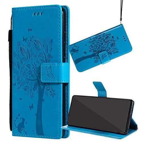 Yiizy Funda para Realme 8 Pro 4G, Carcasa Cuero para Realme 8 Pro 4G Tapa Piel Billetera Interior de Silicona TPU para Realme 8 Pro 4G, con Soporte y Ranuras para Tarjetas (Azul)
