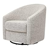 Babyletto Madison Swivel Glider in Black White Boucle, Greenguard Gold Certified