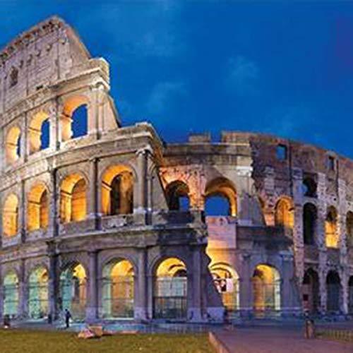 LACKINGONE Puzzle - 1000 Pezzi Jigsaw Puzzle da Adulti, Il Colosseo Romano, età Consigliata 8 +, Multicolore,Adulti / Bambini 70x50 cm