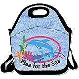Sufer preghiera per il mare grandi e spessi neoprene lunch Bags lunch Tote Bags Cooler calda calda borsa con tracolla per le donne teenager ragazze bambini adulti