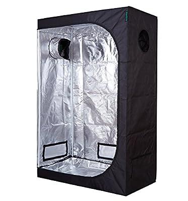 """TopoGrow D-Door 48""""x24""""x72"""" Indoor Grow Tent Room 600D Mylar High Reflective Non Toxic Hut, 4'X2'"""