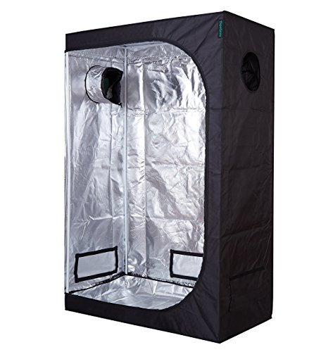TopoGrow D-Door 48'x24'x72' Indoor Grow Tent Room 600D Mylar High Reflective Non Toxic Hut, 4'X2'