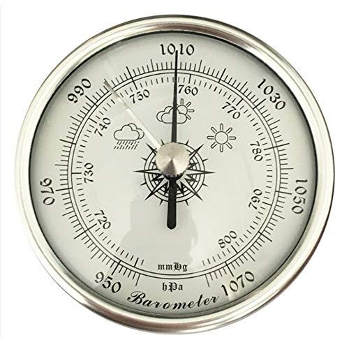 XLTWKK Barómetro aneroide analógico de alta precisión de 72 mm de diámetro barómetro circular barómetro doméstico montado en la pared termómetro