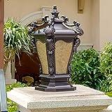 Classical LED al aire libre Patio de Luces europeas columna a prueba de agua, la...
