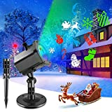 AOBISI Christmas Projector Lights Outdoor,Christmas Lights Decorations Outdoor, IP65 Waterproof LED Projection Decorative Light for Indoor Xmas Party,Garden,Yard,Holiday(12Slides)