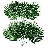 Comius Sharp Künstliche Cycas-Blätter, [12 Stück] Tropische Blätter, Dschungel Deko Palmenblätter Dschungel Strand Thema Party Hochzeit Dekorationen Tischdekoration
